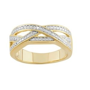 Ring - 18k gold over Sterling Silver Openwork